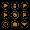 Brown On Black Icons By Arjun Arora 1.2.9
