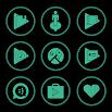 Emerald On Black Icons By Arjun Arora 1.2.9