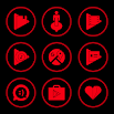 Red On Black Icons By Arjun Arora 1.2.9