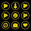 Yellow On Black Icons By Arjun Arora 1.2.9