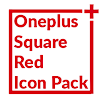 Square Red Icon Pack Oneplus Style 1.1