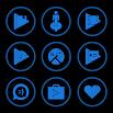 Blue On Black Icons By Arjun Arora 1.3.1