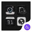 Bling Black & White APUS Launcher theme 1
