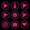 Pink On Black Icons By Arjun Arora 1.2.9