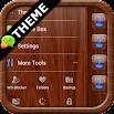 Mahogany Wood GO SMS Theme 1.13