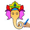 Lord Ganesha Paint, Ganesha Coloring Pictures 6.0