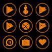 Orange On Black Icons By Arjun Arora 1.3.0