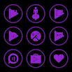 Purple On Black Icons By Arjun Arora 1.3.3