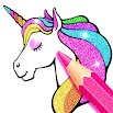 Rainbow Glitter Coloring Book - Unicorn Artist 2.0