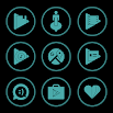 Teal On Black Icons By Arjun Arora 1.3.3