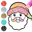 Christmas Coloring Book Glitter For Kids 1.0