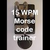 15 WPM Amateur ham radio CW Morse code trainer 2.0.5
