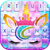 Sweetie Unicorn Galaxy Keyboard Theme 1.0