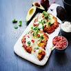Cara membuat Keto taco meatza 26