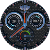 Lathom Rugged Black Android Wear Watch Face 1.0