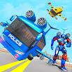 Flying Bus Robot Transform War- Police Robot Games 1.14