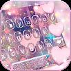 Rose Gold Heart Keyboard Theme 3.0