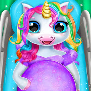 Pregnant Unicorn Mom And Baby Daycare 0.13