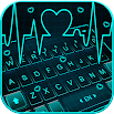 Animated Neon Heart Keyboard Theme 1.0