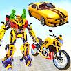US Robot Bike Transform Shooting Game 4.4 and up