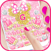 Pink Gold Minny Wallpapers Keyboard Background 4.0.B