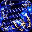 Blue Fancy Butterfly Keyboard Theme 1.0