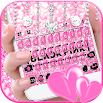 Glitter Black Pink Girls Keyboard Theme 1.0