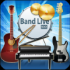 Band Live Rock (drum, bass, guitar, piano, mic)